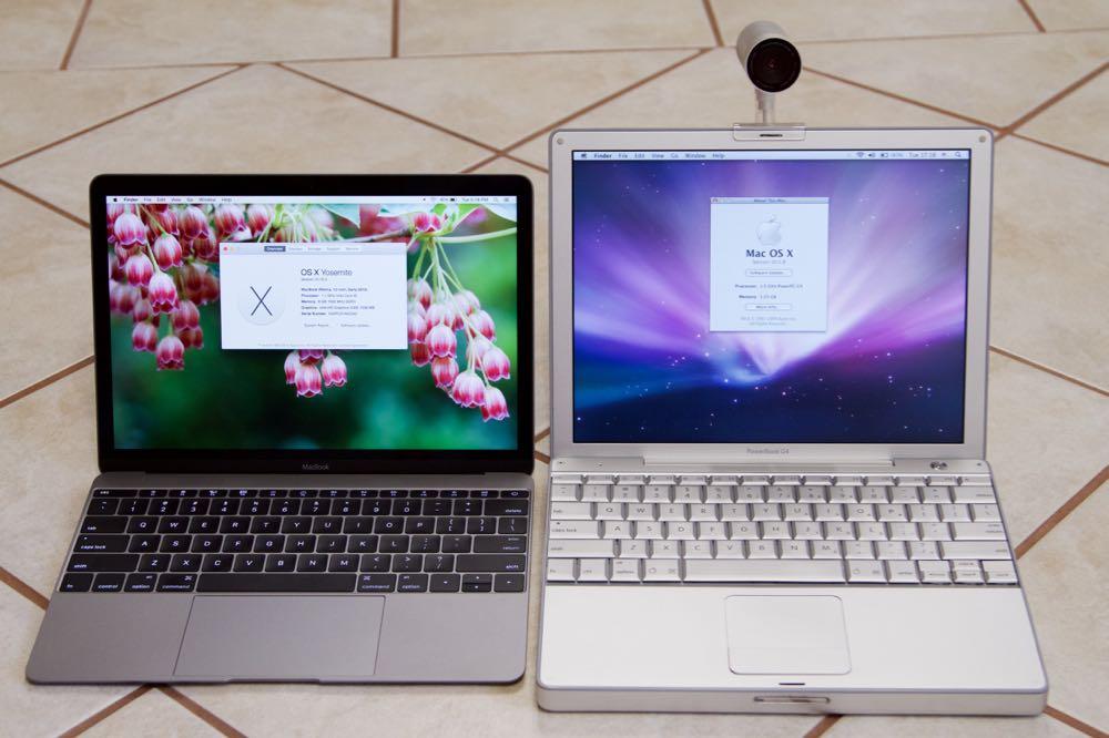 mac powerbook g4 vs macbook pro