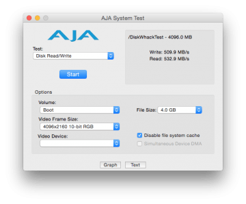 boot ssd volume speed test in iMac 27 inch