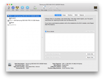 dual ssd iMac disk utility configuration