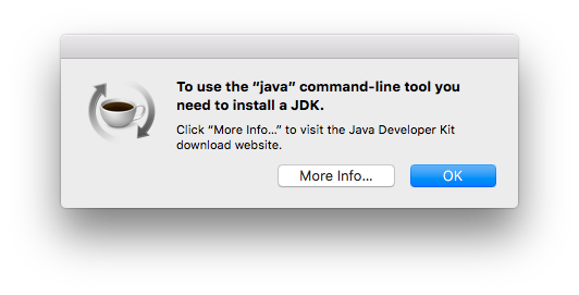 to use the java command-line tool you need to install a JDK