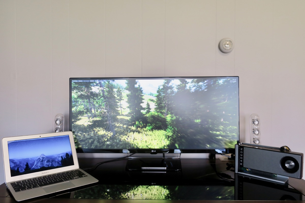 """RX 470 eGPU with MacBook Air 11"""" and LG 34"""" Ultrawide screen"""