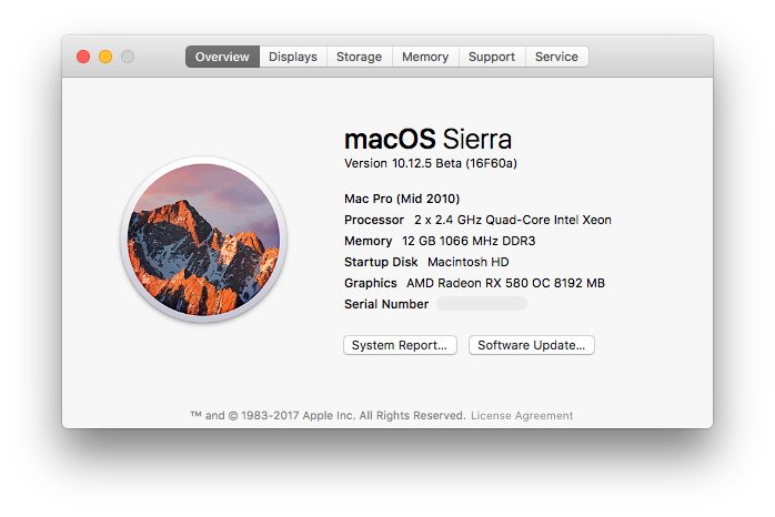 How to: Install AMD RX 480 & RX 580 in macOS Sierra