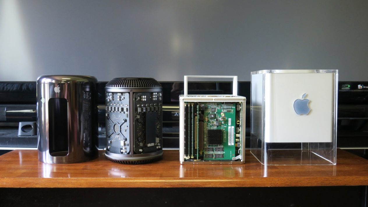 power Mac G4 Cube and Mac Pro trashcan