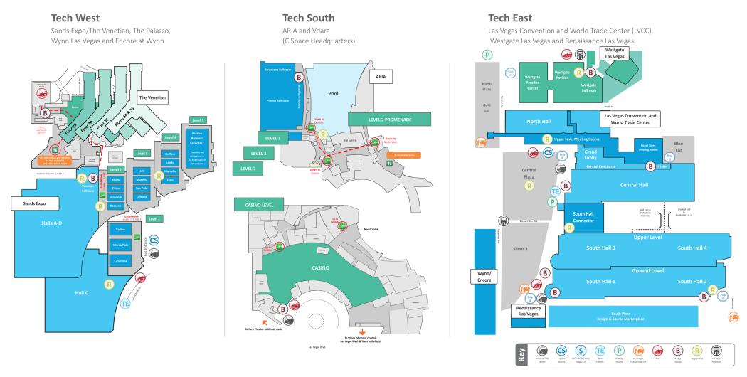 CES show floor maps
